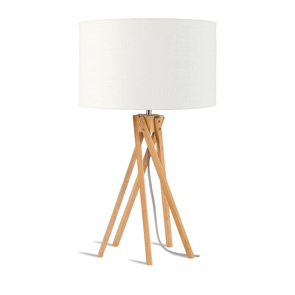 Kilimanjaro table lamp linen white Good & Mojo