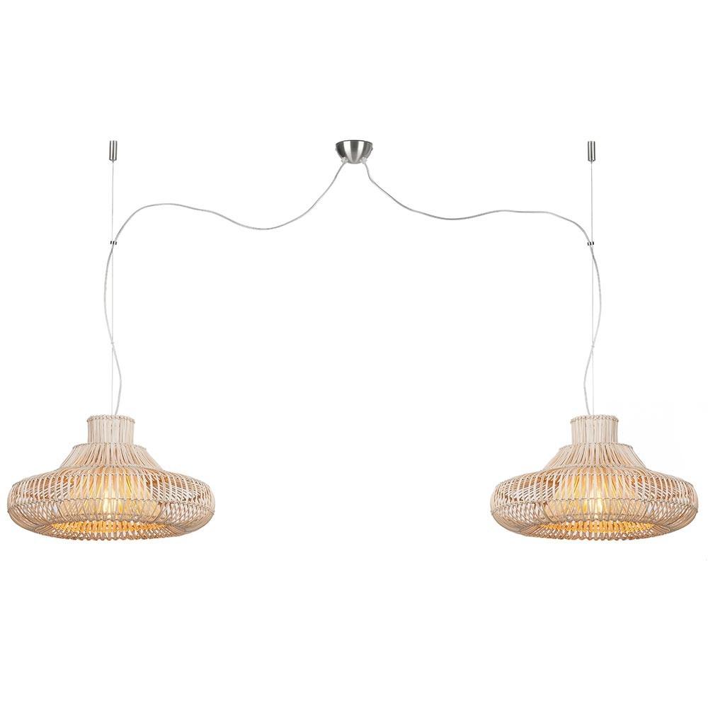 Kalahari double pendant lamp rattan natural S Good & Mojo