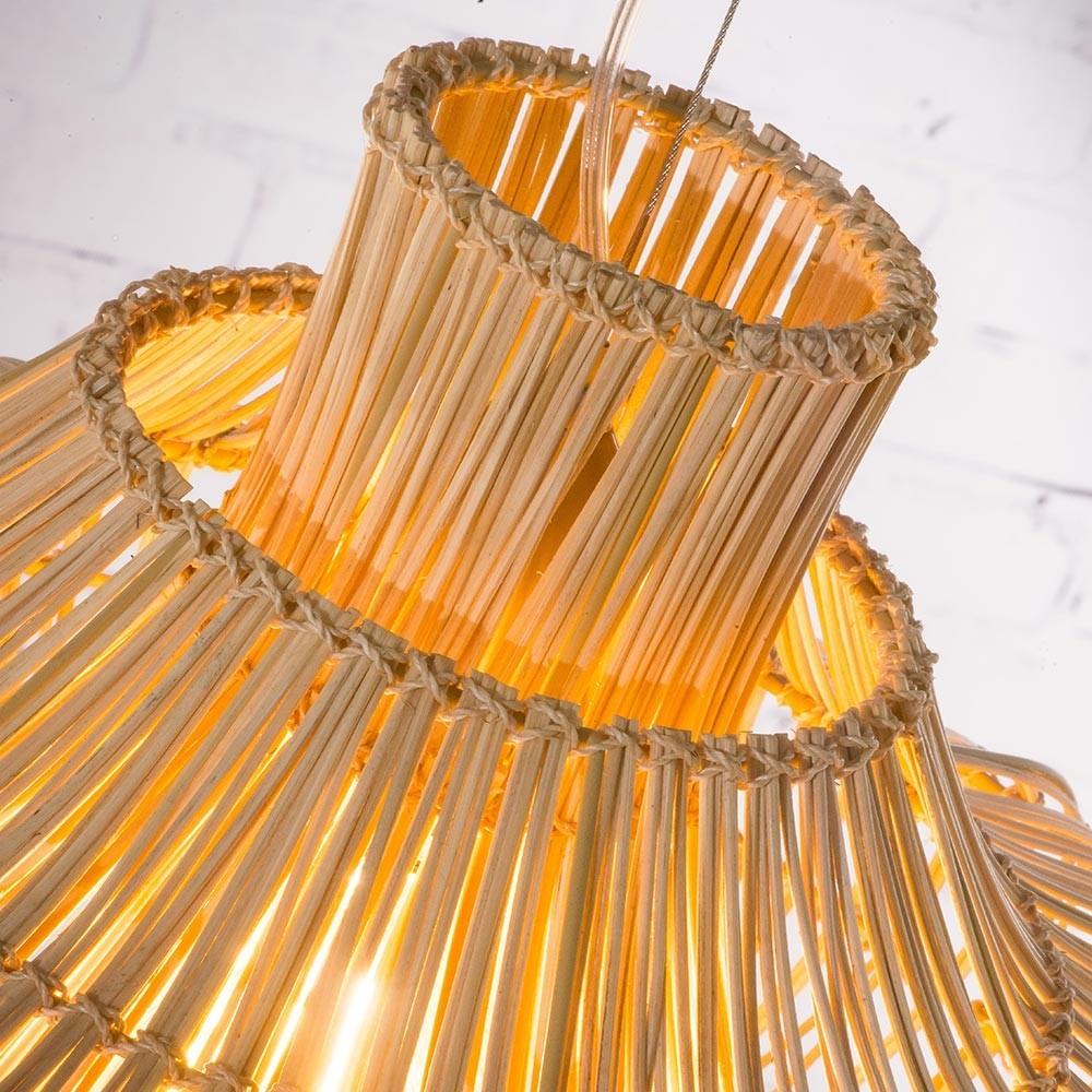 Kalahari dubbele hanglamp naturel rotan S Good & Mojo
