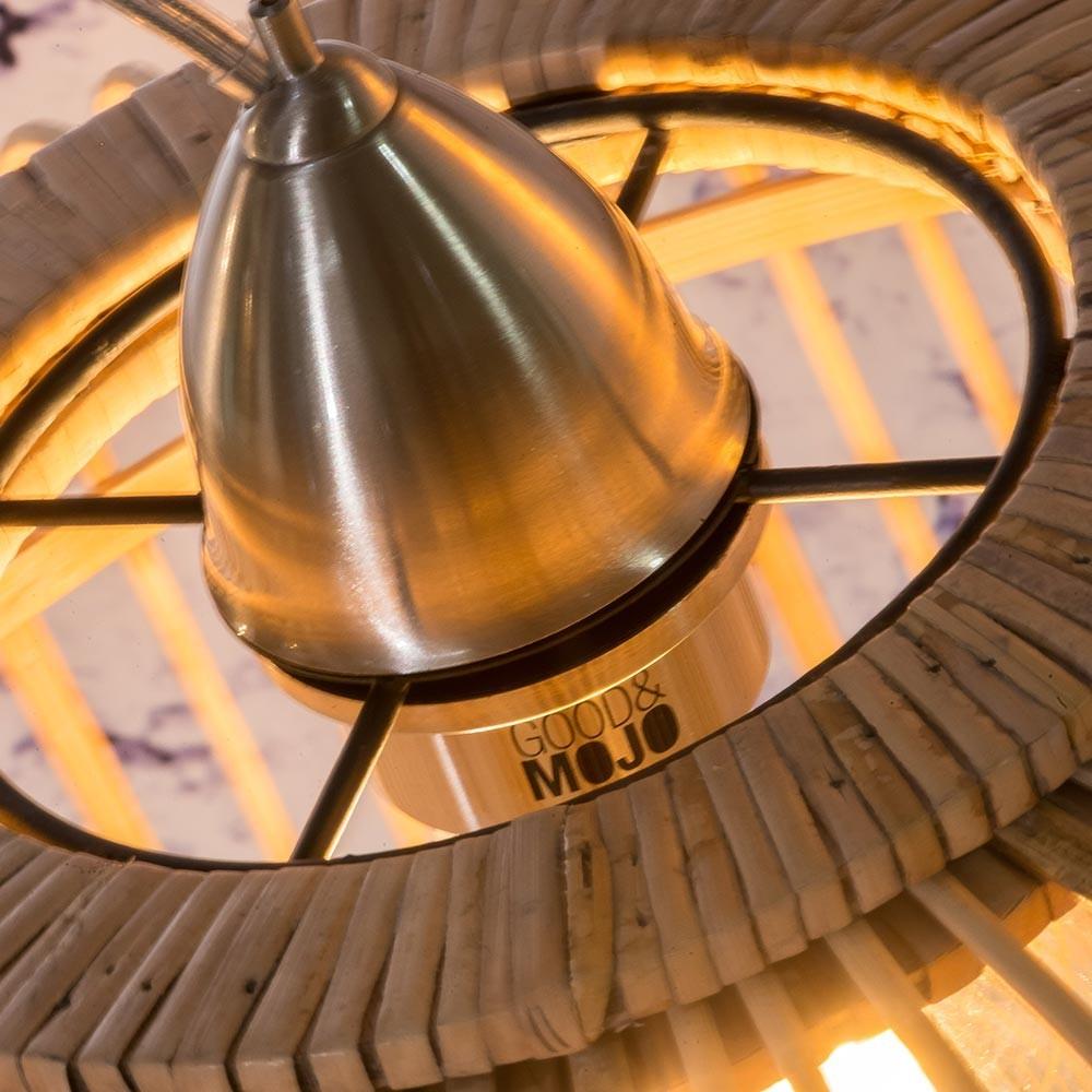 Borneo dubbele hanglamp naturel S Good & Mojo