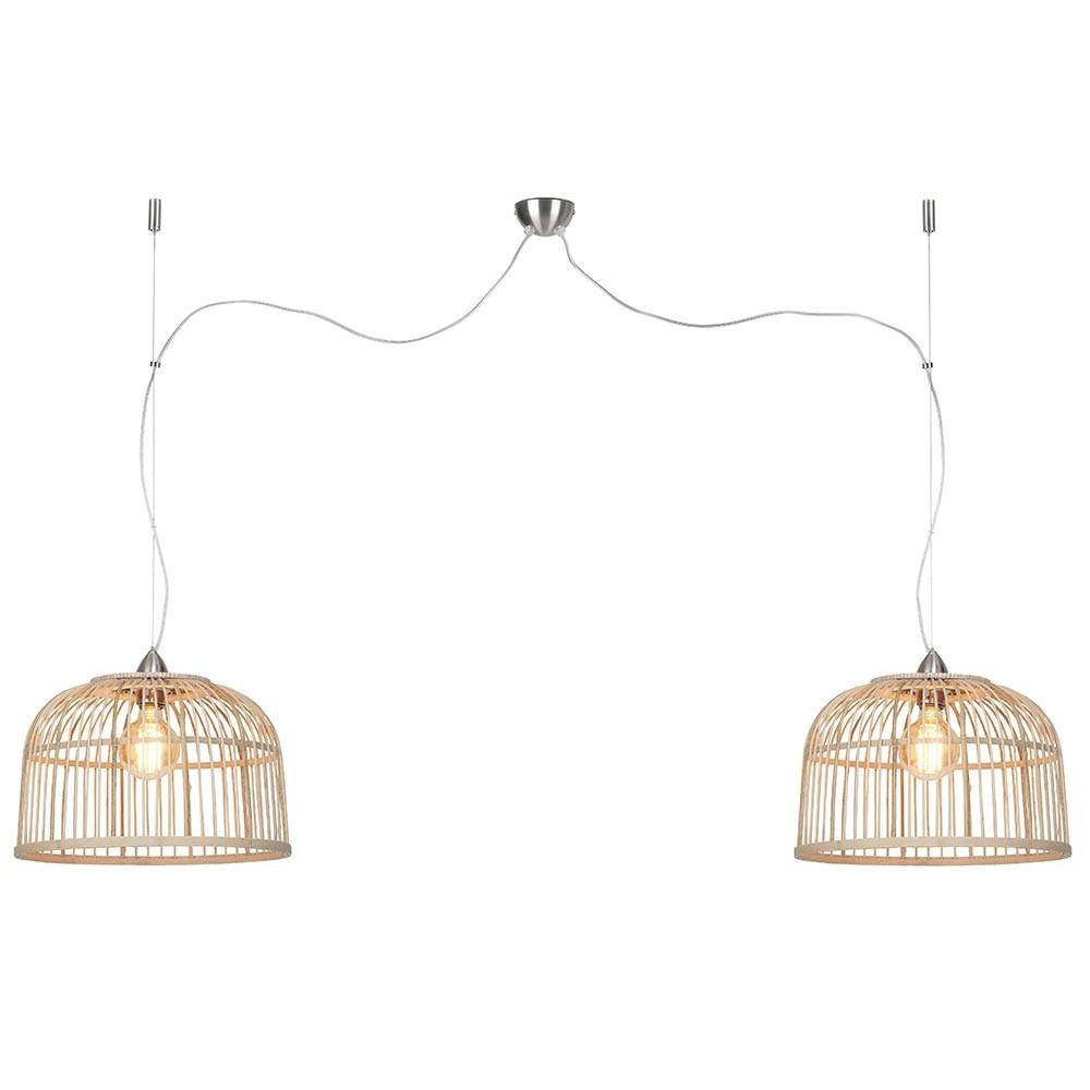 Borneo double pendant lamp natural S Good & Mojo