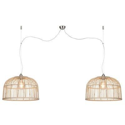 Borneo dubbele hanglamp naturel L Good & Mojo
