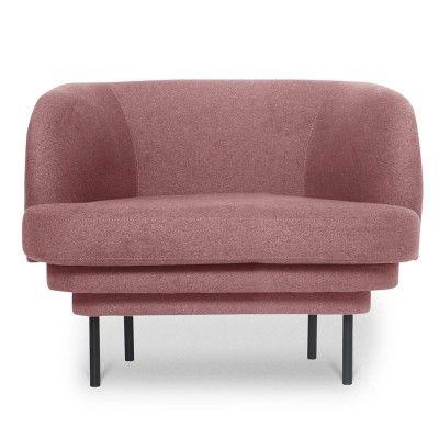 Kroonlijst fauteuil zwart & roze stof ENOstudio
