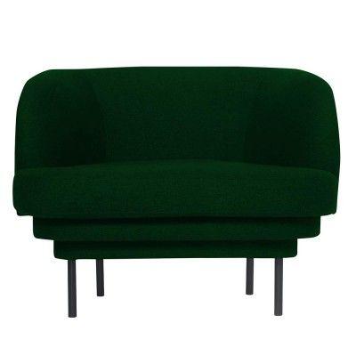 Fauteuil Cornice noir & velours vert canard ENOstudio