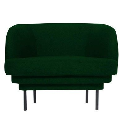 Kroonlijst fauteuil zwart & eendgroen fluweel ENOstudio
