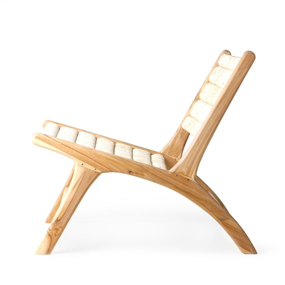 Abaca teak lounge chair HKliving