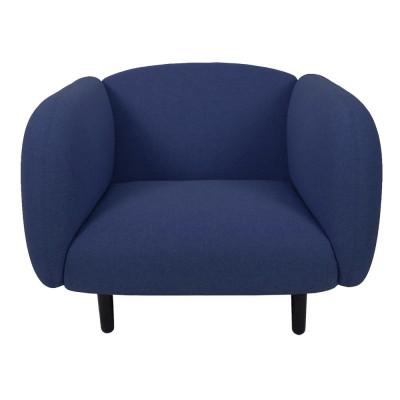 Fauteuil Moïra tissu bleu ENOstudio