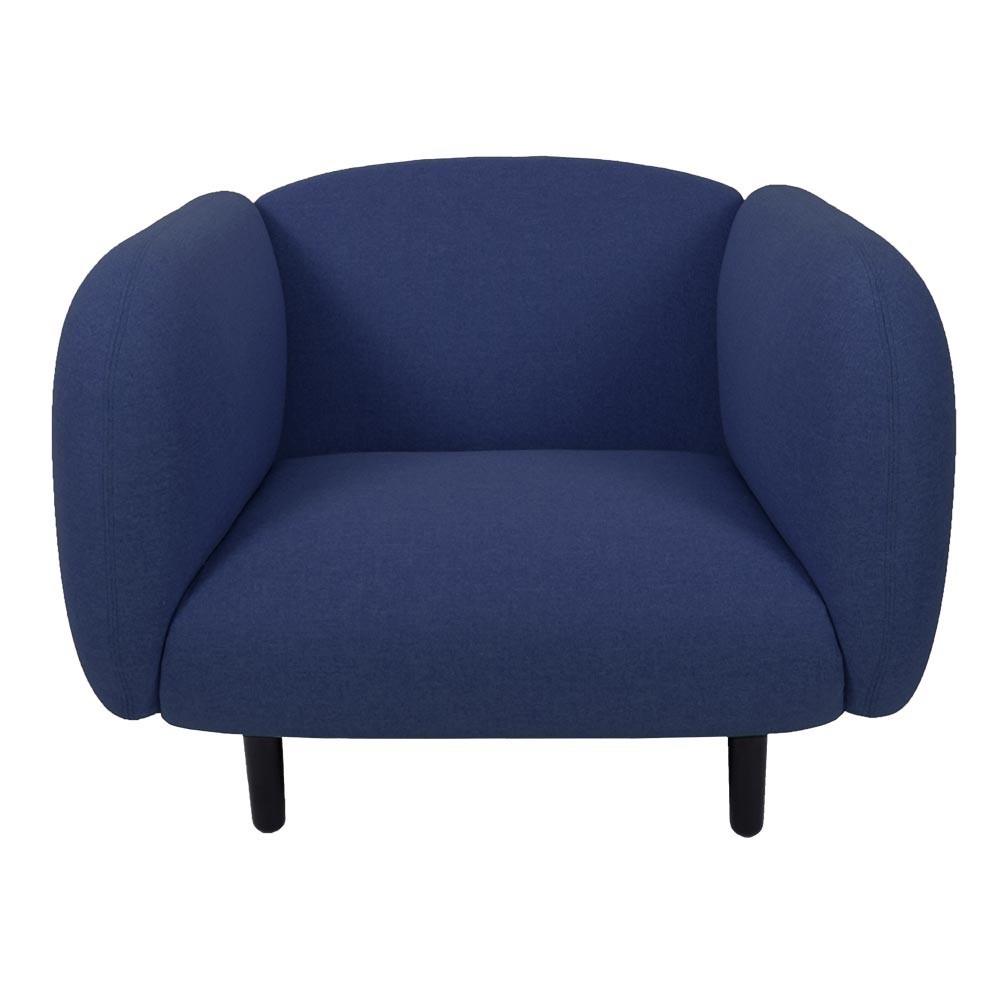 Moïra armchair blue fabric ENOstudio