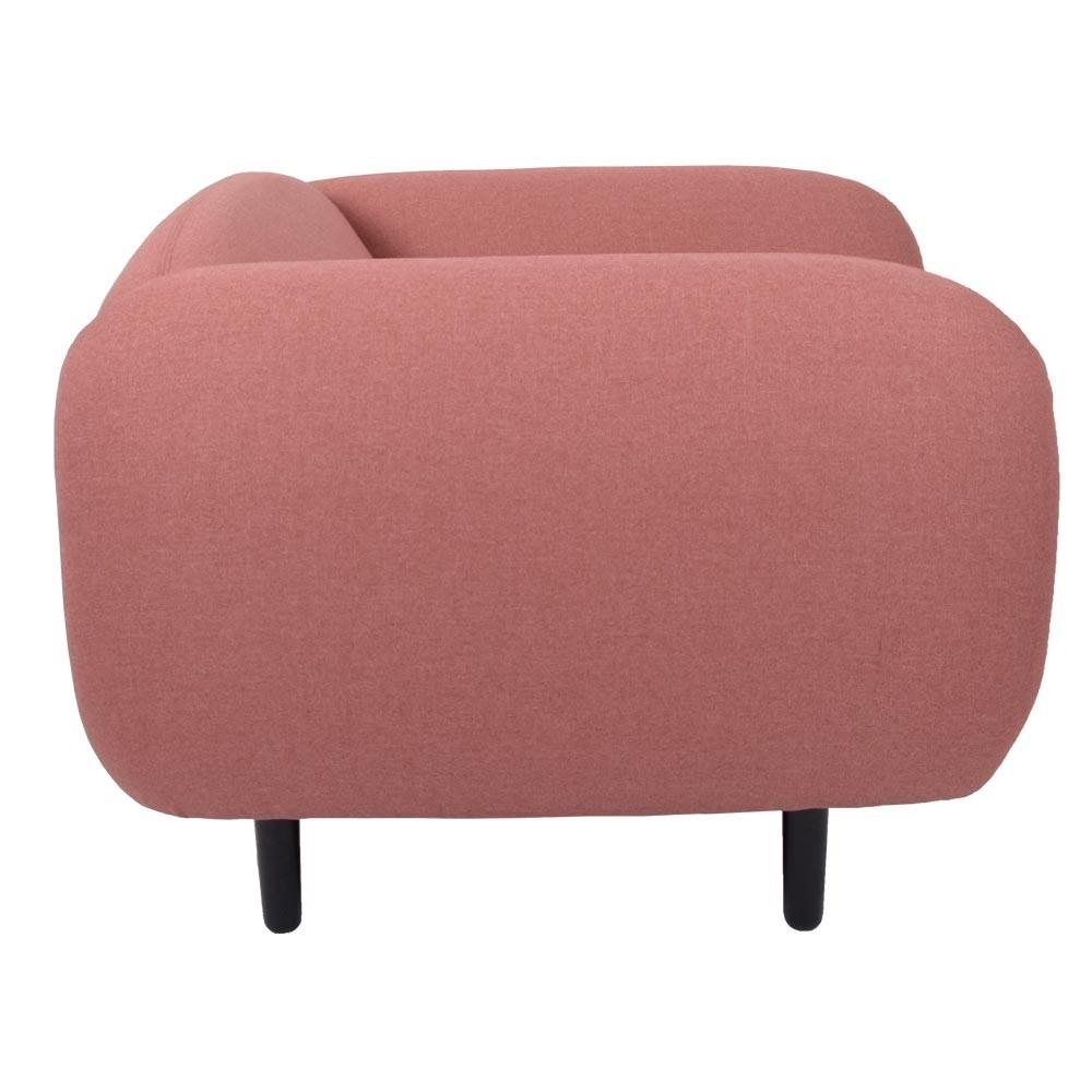 Moïra armchair pink fabric ENOstudio