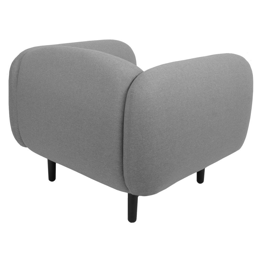 Moïra armchair light grey fabric ENOstudio