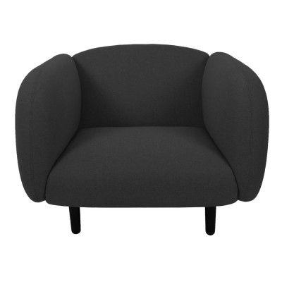 Moïra fauteuil donkergrijze stof ENOstudio