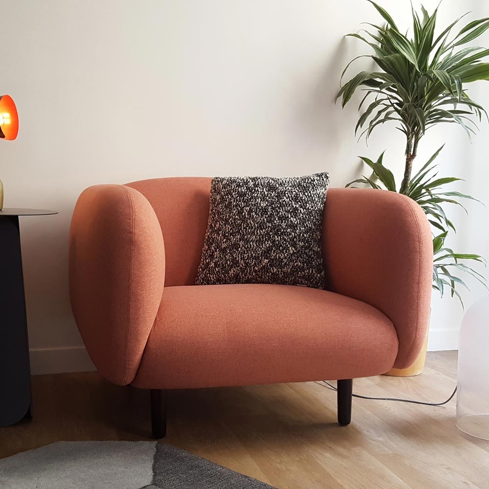 Moïra armchair dark grey fabric ENOstudio