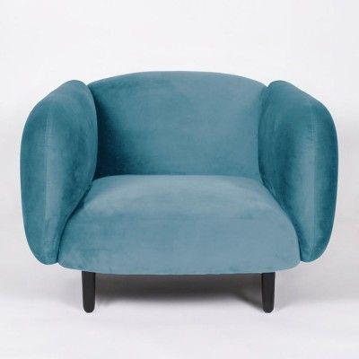 Moïra fauteuil hemelsblauw fluweel ENOstudio