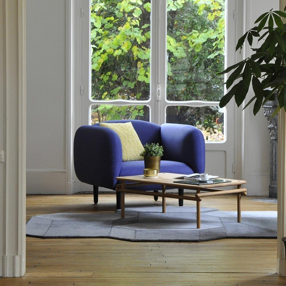Moïra armchair night blue velvet ENOstudio