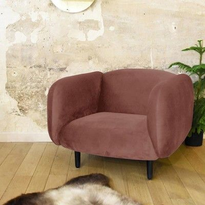 Moïra armchair pink velvet ENOstudio