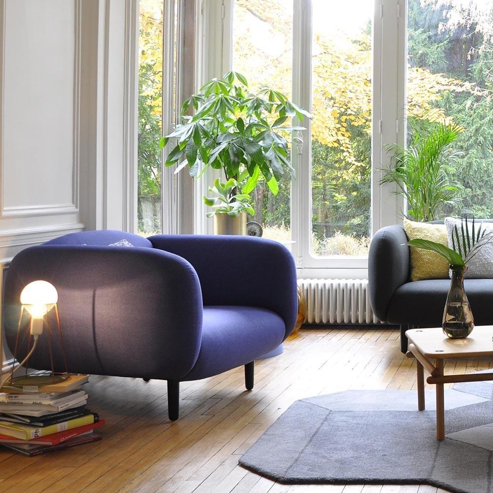 Moïra armchair teal green velvet ENOstudio