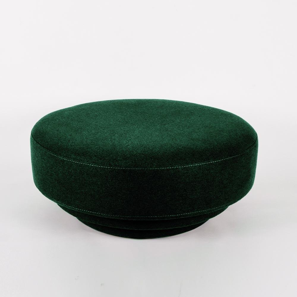 Cornice pouffe teal green velvet ENOstudio
