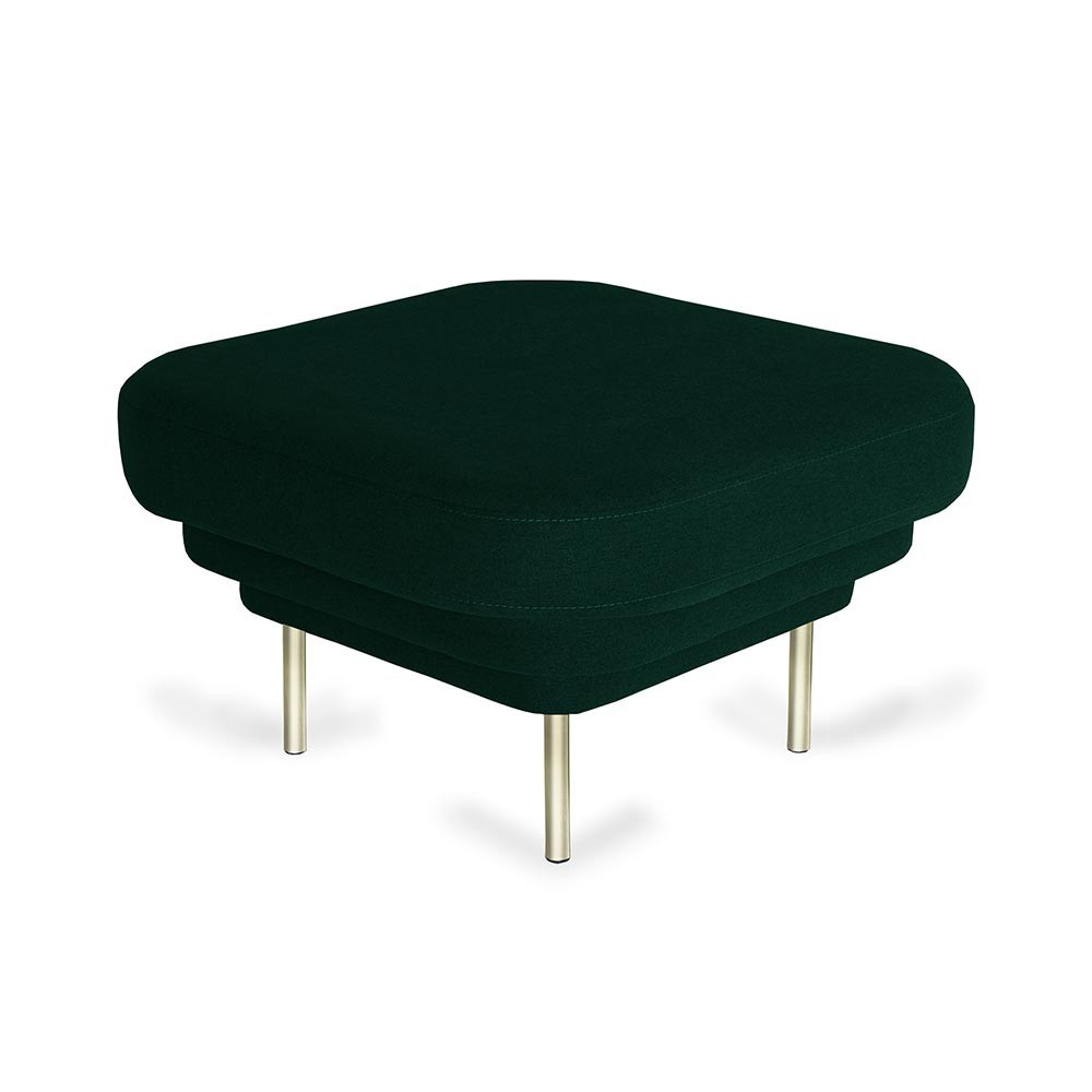 Cornice ottoman black & teal green velvet ENOstudio