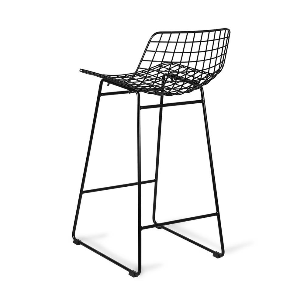 Wire bar stool black HKliving