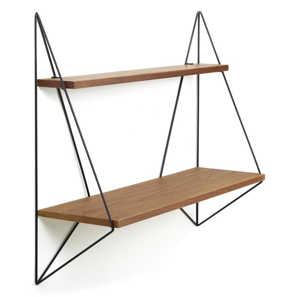 Butterfly shelf single brown wood Serax