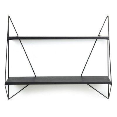 Butterfly shelf single black wood Serax