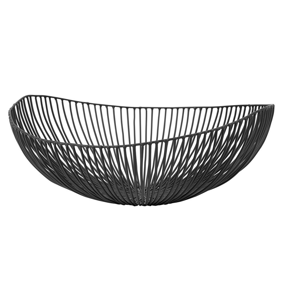 Plate ovale Meo black Serax