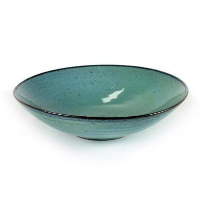 Aqua turquoise diep bord Ø23 cm (set van 4) Serax