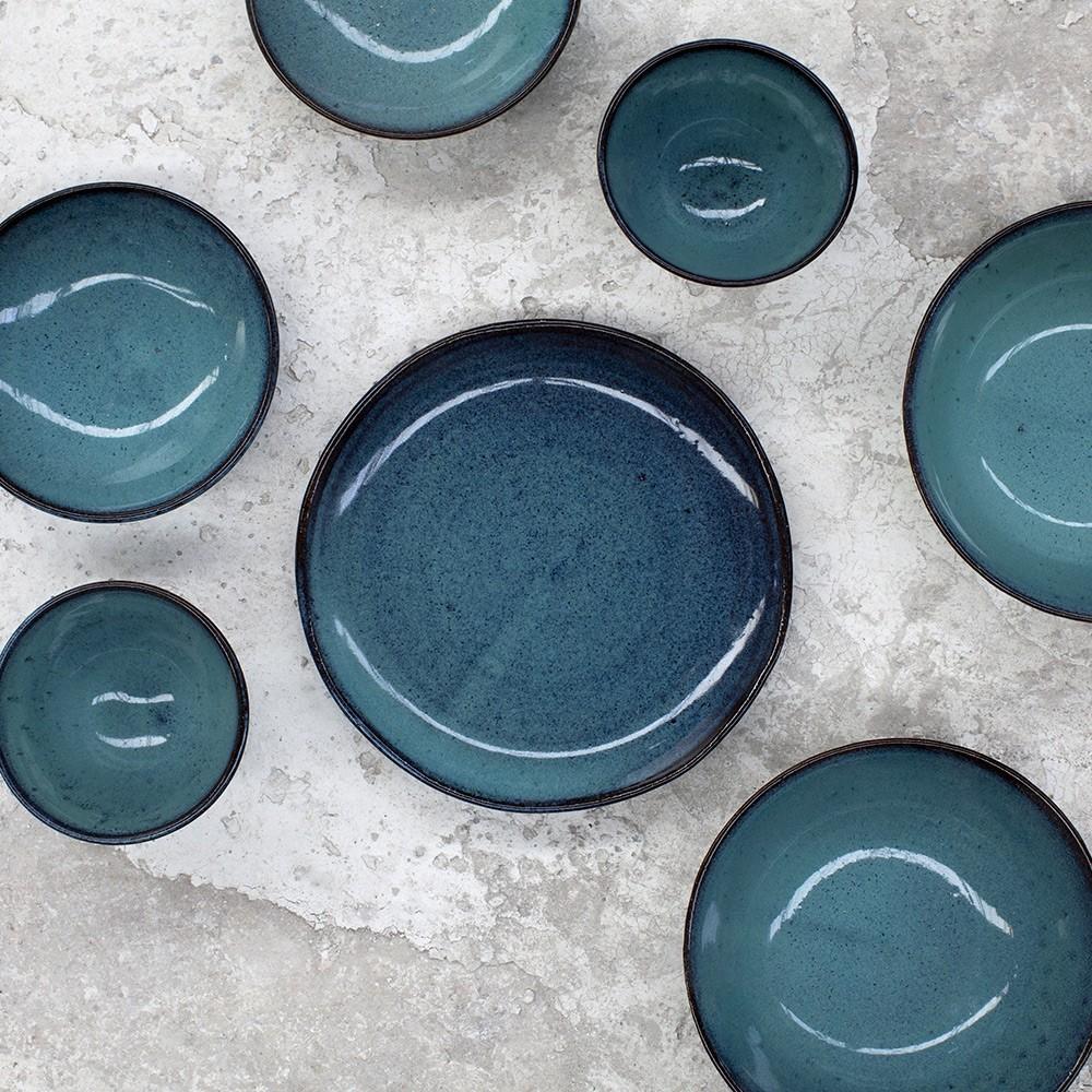 Assiette à soupe Aqua turquoise Ø23 cm (lot de 4) Serax