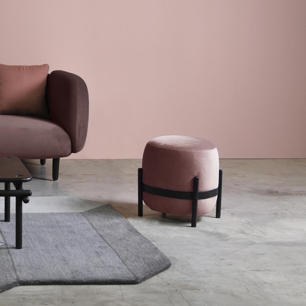 Vega pouffe black & pink ENOstudio