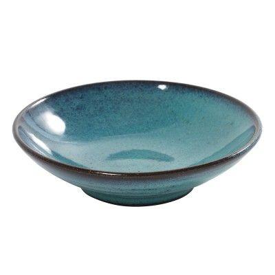 Aqua turquoise lage schaal Ø15 cm (set van 6) Serax