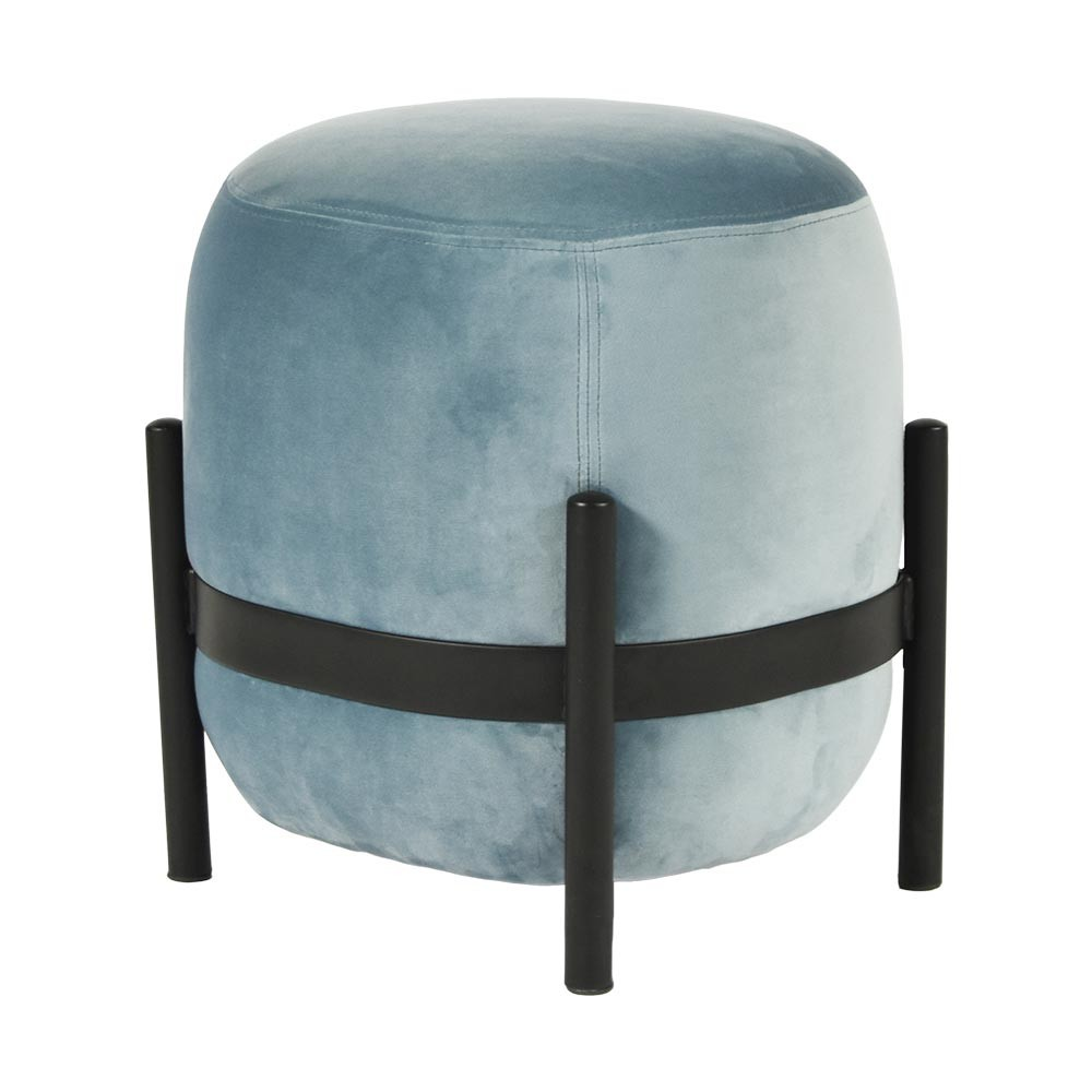 Vega pouffe black & sky blue ENOstudio