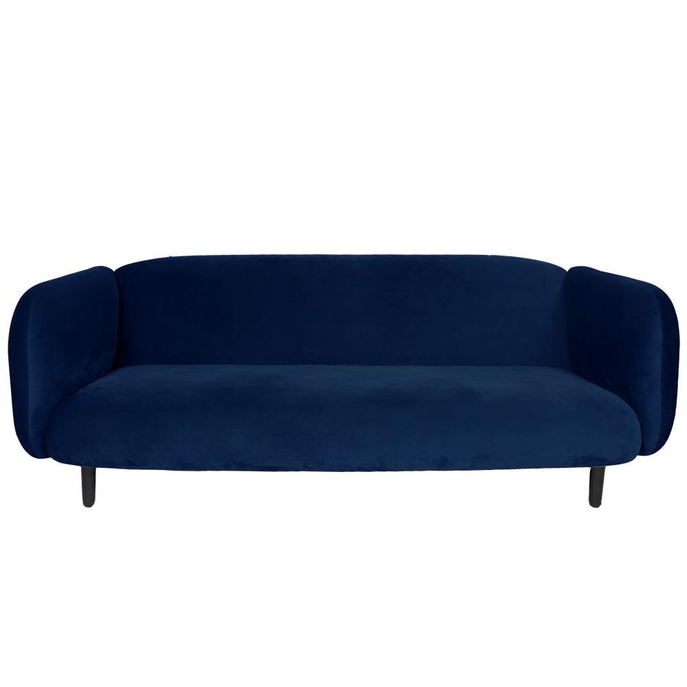 Moïra 3 seaters sofa night blue velvet ENOstudio