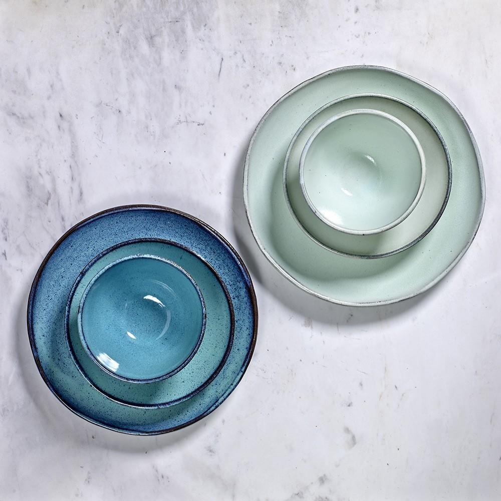 Plate Aqua clear Ø33,5 cm (set of 2) Serax