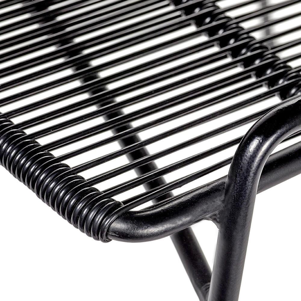 Abaco stoel zwart & zwart frame (set van 2) Serax