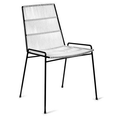 Chaise Abaco blanc & structure noire (lot de 2) Serax