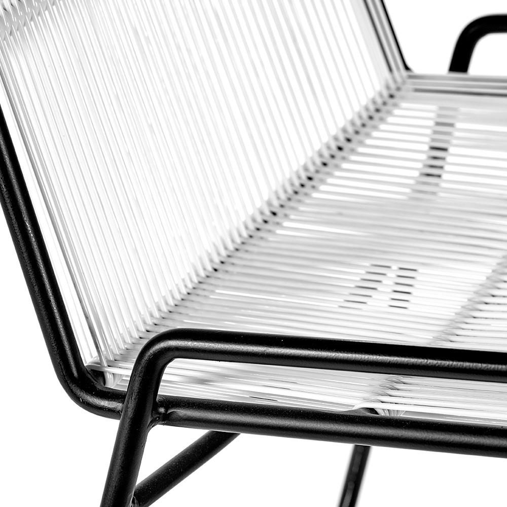 Abaco chair white & frame black (set of 2) Serax