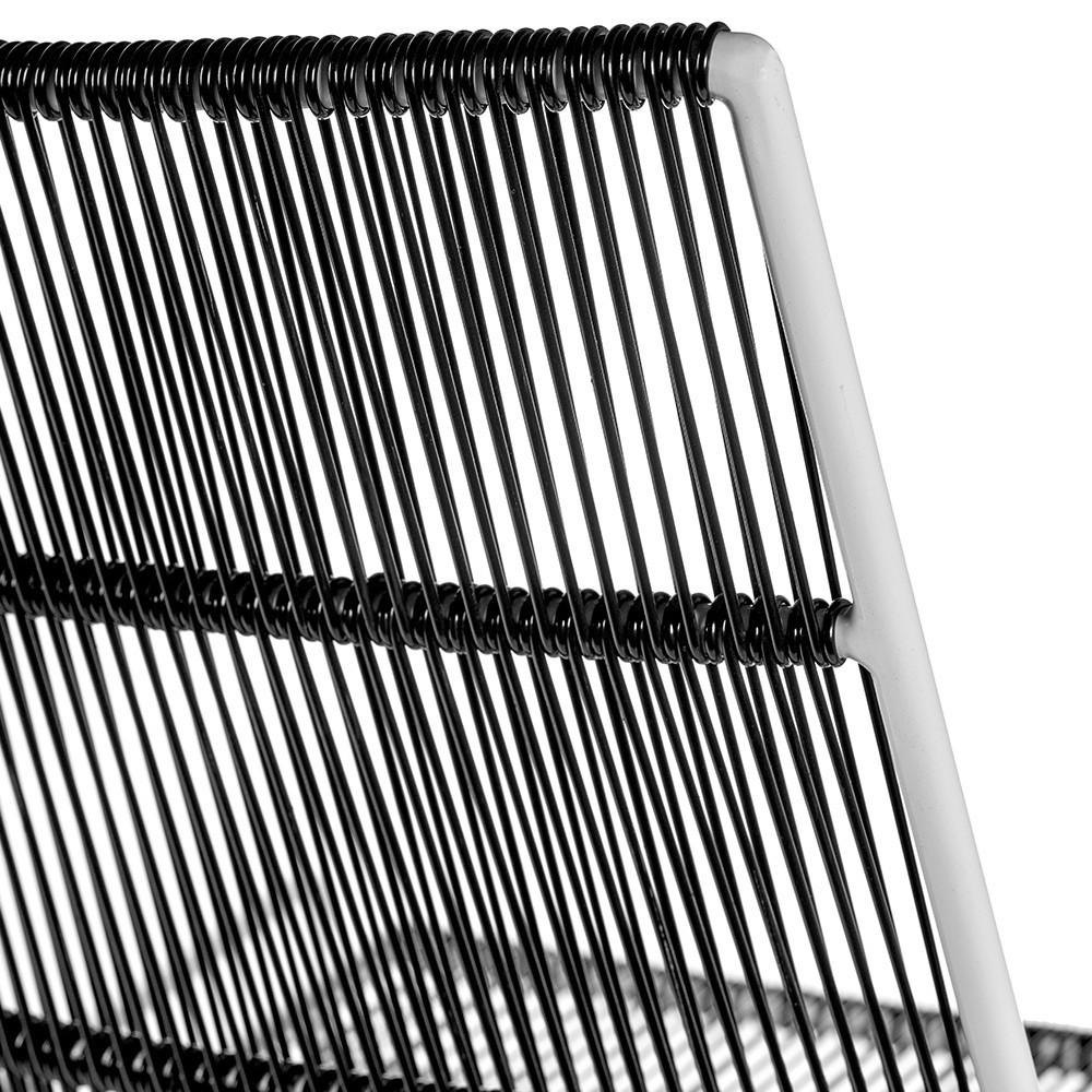 Chaise Abaco noir & structure blanche (lot de 2) Serax