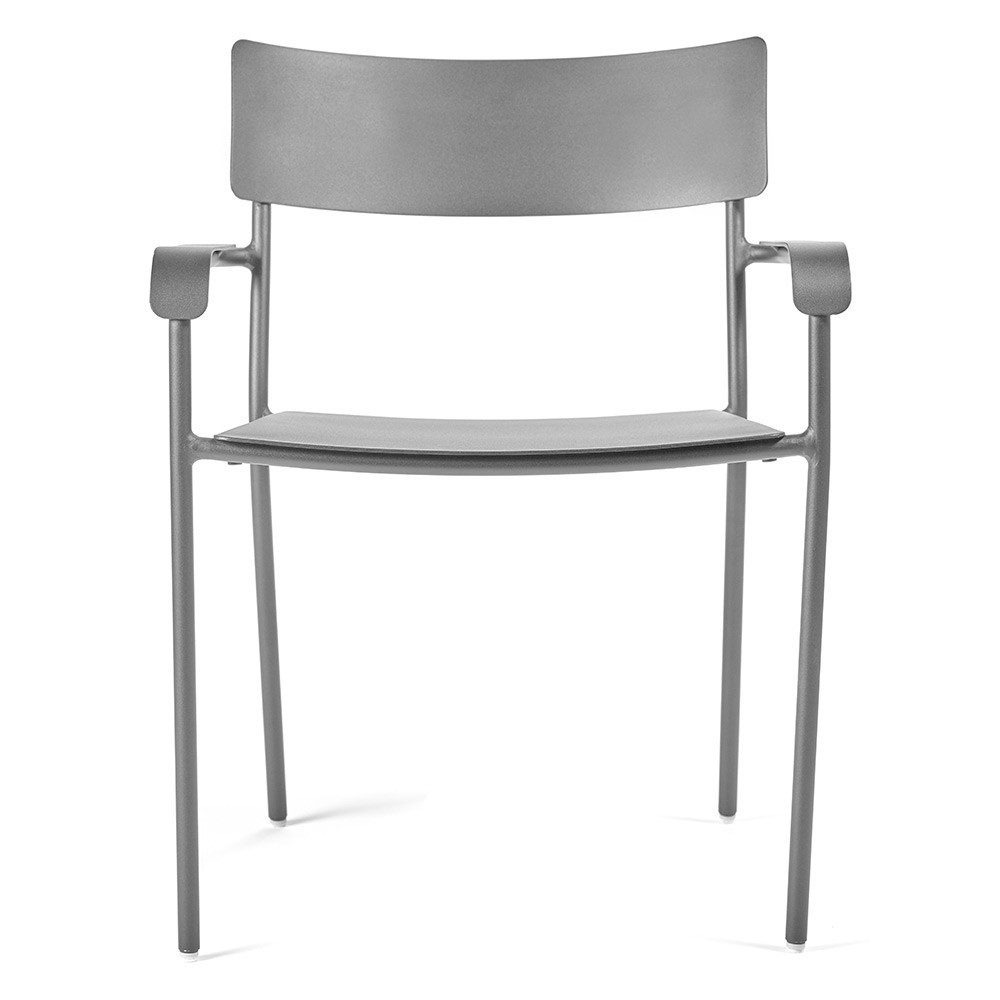 August dining chair grey with armrests Serax