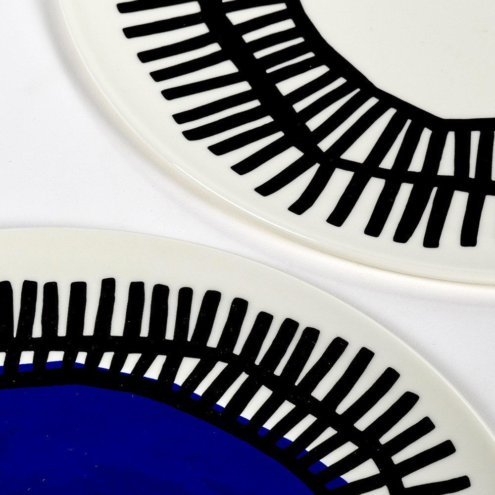Plate blue Table Nomade Ø32 cm Serax