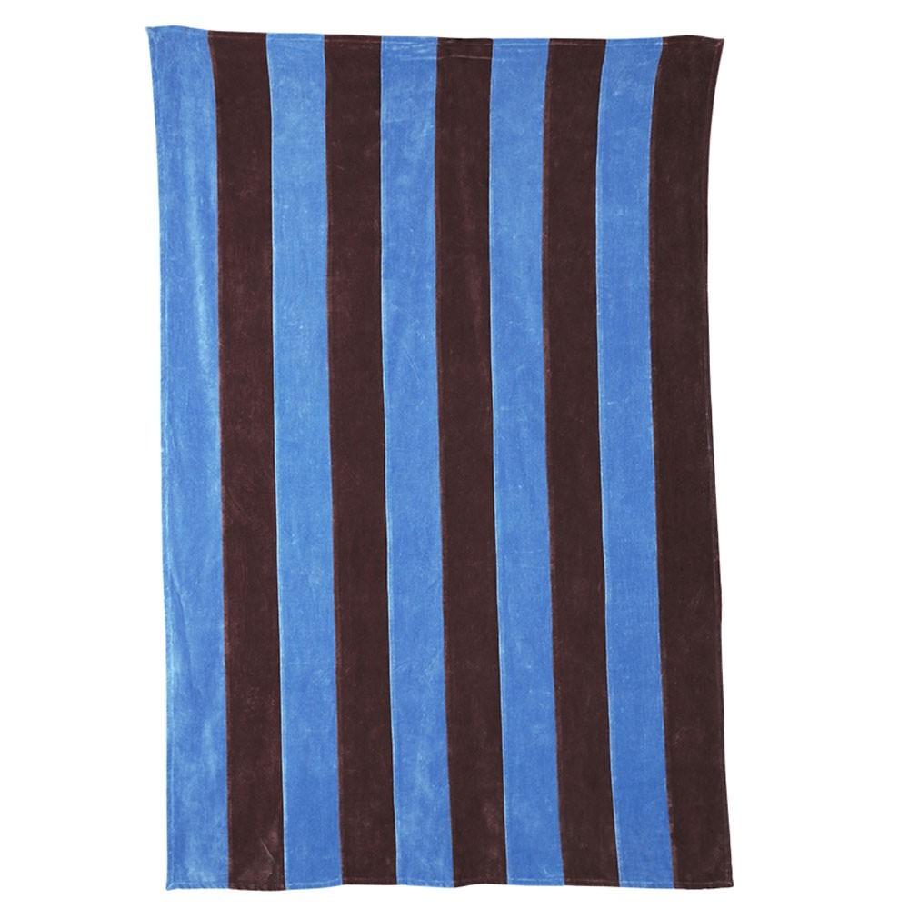 Striped bedspread velvet purple/blue HKliving