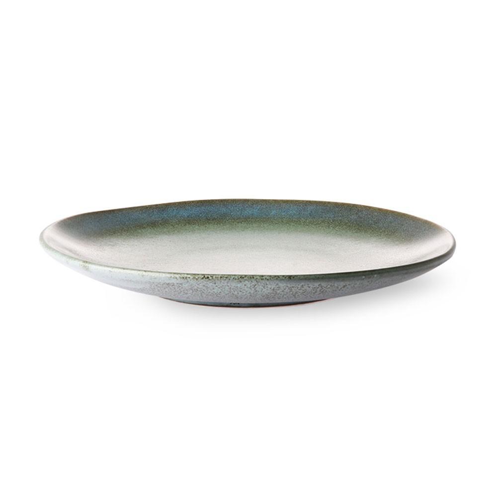 Assiette à dessert céramique 70's moss Ø17,5 cm (lot de 6) HKliving