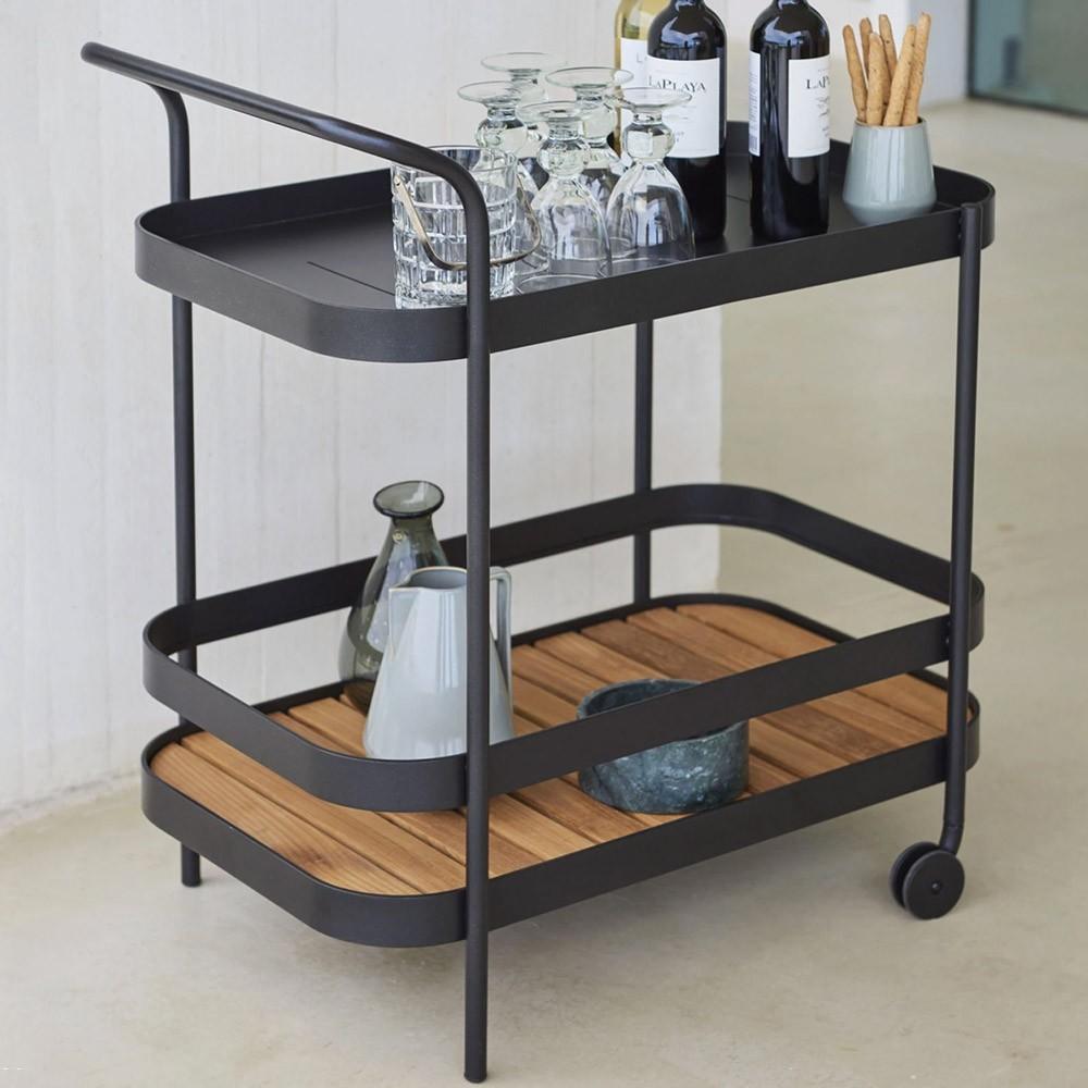Roll bar trolley grey Cane-Line