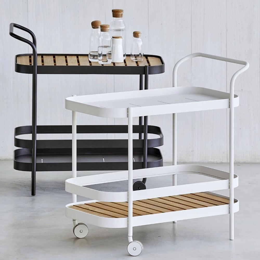 Roll bar trolley white Cane-Line