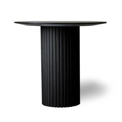 Pillar round side table black HKliving