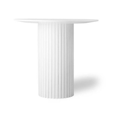 Pillar round side table white HKliving