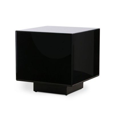 Mirror block table black M HKliving