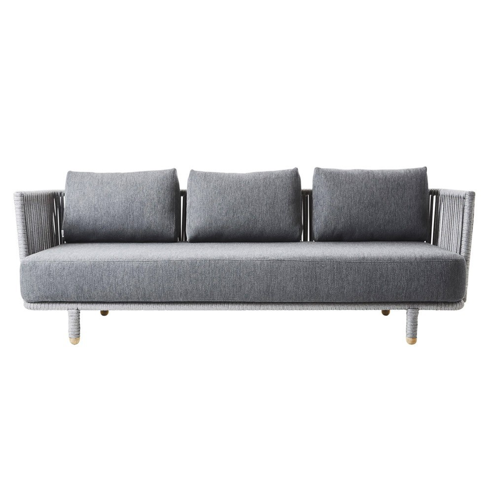 Moments 3-seater sofa grey Cane-Line