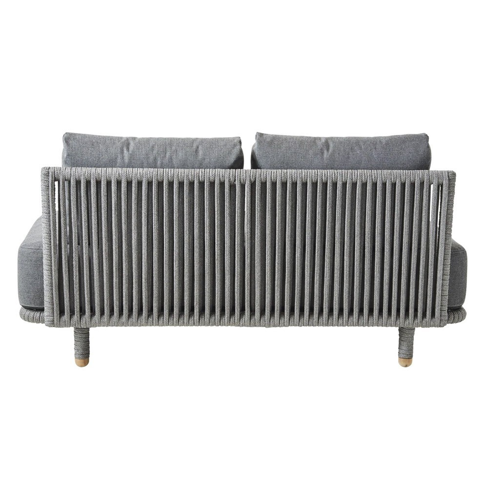 Moments 2-seater sofa module grey Cane-Line