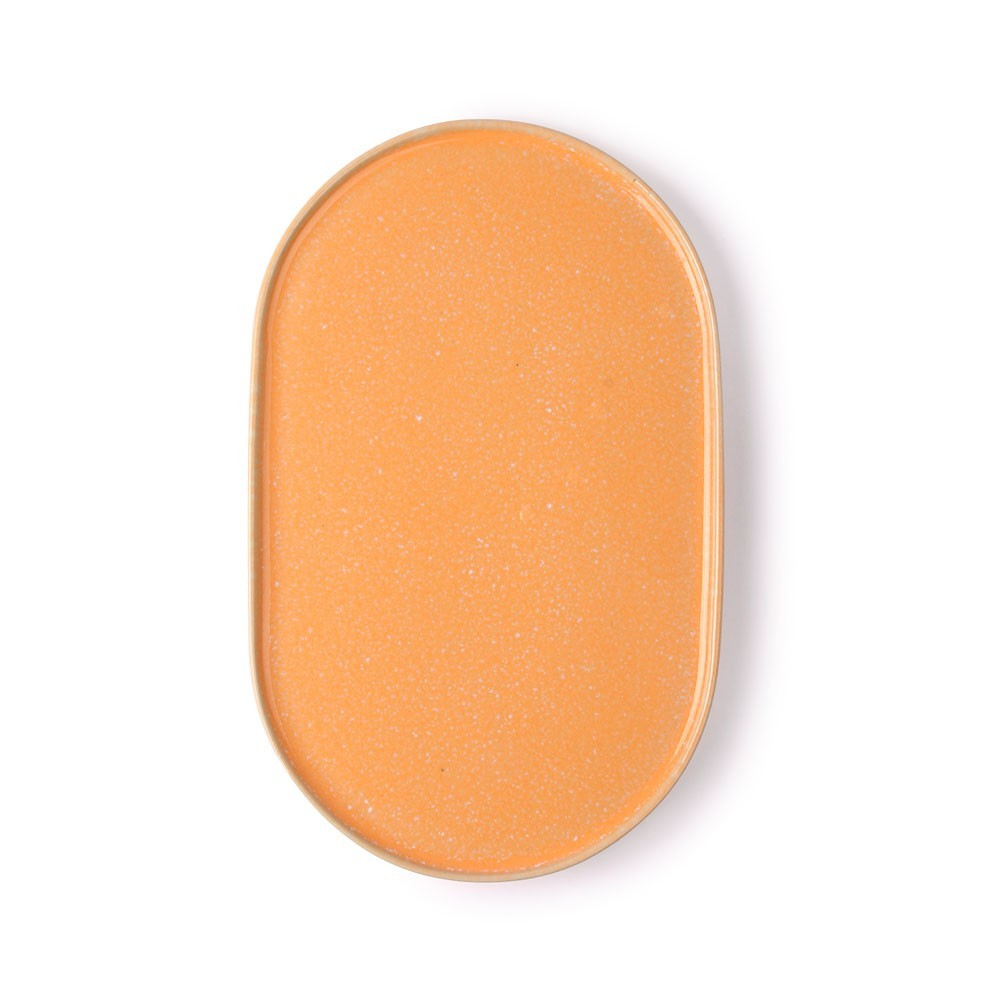 Gallery oval side plate peach HKliving