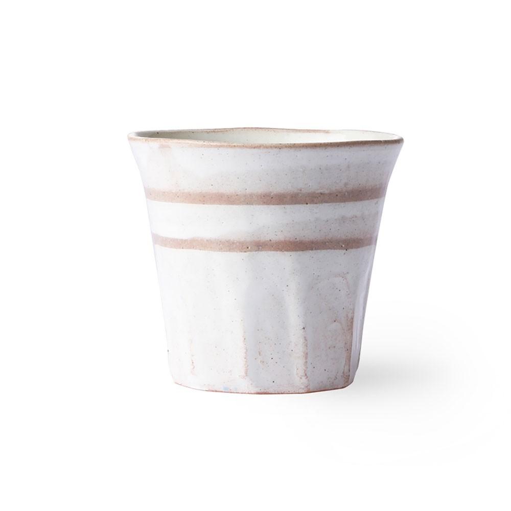 Bold & Basic ceramic mug white/terra (set of 6) HKliving